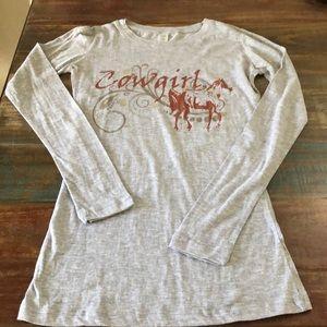 NWT Original Cowgirl Company Horse Long Sleeve Tee